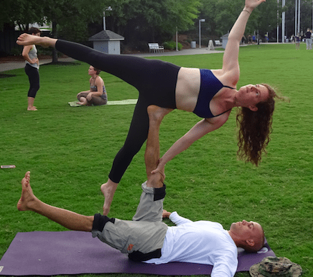 Intermediate AcroYoga with Rebekah Luhrs @ Breezeway Yoga Studio | Knoxville | Tennessee | United States